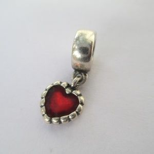Pandora red heart dangle 925 ALE